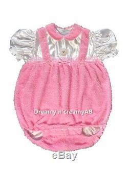 Adult Sissy Baby Sissy Little Bear Curly Fleece Romper Night Sleeper L