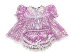 Adult Sissy Baby Super-shin Laser Baby Dress Lavender