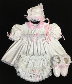 Adult Sissy Innocent Baby Pvc Dress 4 Items Set (sz L)