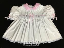 Adult Sissy Innocent Baby Pvc Dress 4 Items Set (sz Xl)