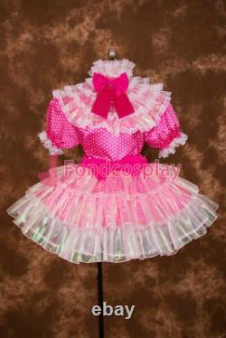 Adult Sissy baby Satin dress Unisex CD/TV Tailor-made #