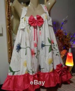 Adult Sissy pretty Spring Baby Doll Dress or skirt Handmade plus sized NEW
