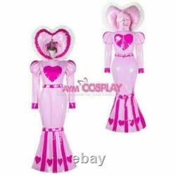 Adult baby sissy maid PVC dress Fishtail bind costume Tailor-made Free shipping