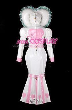 Adult baby sissy maid PVC dress Fishtail lockable bind costume G2339/G2397