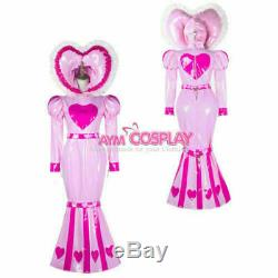 Adult baby sissy maid PVC dress Fishtail lockable bind costume Tailor-made