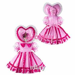 Adult sissy baby Maid PVC Dress Vinyl lockable CD/TV Tailor-made