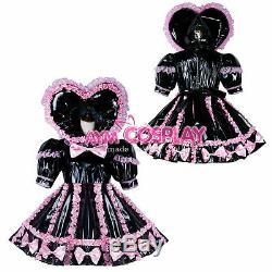 Adult sissy baby Maid PVC Dress Vinyl lockable CD/TV Tailor-made