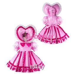 Adult sissy baby Maid PVC Dress Vinyl lockable CD/TV Tailor-madeG2285