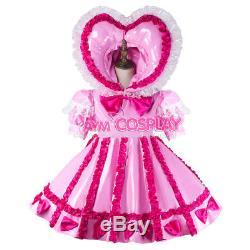 Adult sissy baby Maid PVC Dress Vinyl lockable TV Unisex Tailor-madeG2161/G218