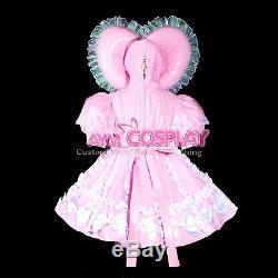 Adult sissy baby Maid PVC Dress Vinyl lockable TV Unisex Tailor-madeG3823