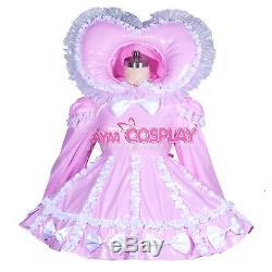 Adult sissy baby Maid PVC Dress Vinyl lockable TV Unisex Tailor-madeG3900