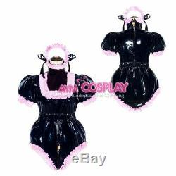 Adult sissy baby PVC Romper lockable vinyl Unisex ABDL tailor-made@