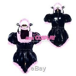 Adult sissy baby PVC Romper lockable vinyl Unisex ABDL tailor-madeG4049