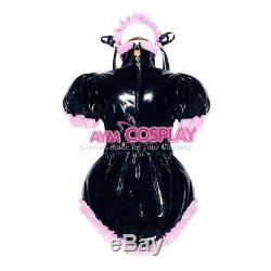 Adult sissy baby PVC Romper lockable vinyl Unisex ABDL tailor-madeG4050