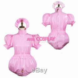 Adult sissy baby PVC Romper lockable vinyl Unisex tailor-made