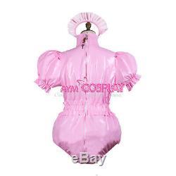 Adult sissy baby PVC Romper lockable vinyl Unisex tailor-madeG3743
