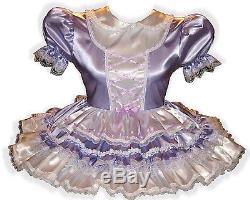 Afton Custom Fit LACY SATIN Adult Baby LG Sissy Dress LEANNE