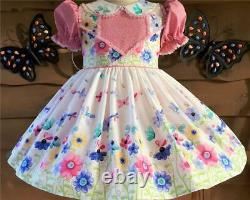Annemarie-Adult Sissy Baby Girl Dress Blooms and Butterflies Ready Ship