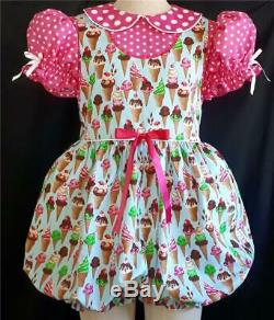 Annemarie-Adult Sissy Baby Girl Dress Just Cones and Dots - Ready to Ship