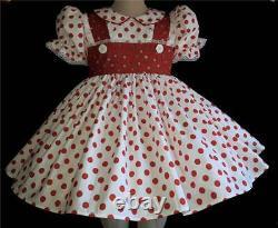 Annemarie-Adult Sissy Baby Girl Dress Lolita Dotty Read to Ship