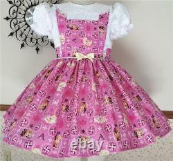 Annemarie-Adult Sissy Baby Girl Dress Lolita Elsa & Anna Ready To Ship