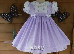 Annemarie-Adult Sissy Baby Girl Dress Lolita Eyelet Delight Ready to Ship