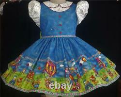 Annemarie-Adult Sissy Baby Girl Dress Lolita Merry Go Round Ready to Ship