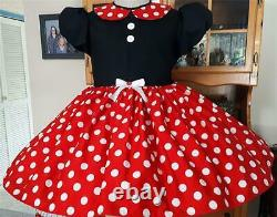 Annemarie-Adult Sissy Baby Girl Dress Lolita Minnie Mouse Read to Ship
