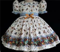 Annemarie-Adult Sissy Baby Girl Dress Lolita Snow Teddies Ready to Ship