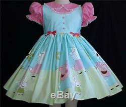 Annemarie-Adult Sissy Baby Girl Dress Peppa and Friends Ready to Ship