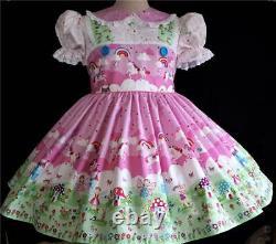 Annemarie-Adult Sissy Baby Girl Lolita DressUnicorn & Fairies Your Measurement