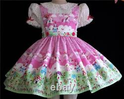 Annemarie-Adult Sissy Baby Girl Lolita DressUnicorn & FairiesYour Measurements