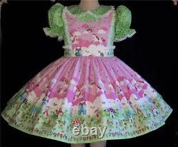 Annemarie-Adult Sissy Baby Girl Lolita DressUnicorns and Fairies Ready to Ship