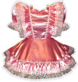Annette Custom Fit SATIN RUFFLES Adult Baby LG Sissy Dress LEANNE