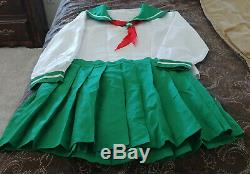Asian School Girl Outfit Adult Baby Sissy Dress XXL Includes Top, Skirt, Tie