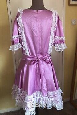 Beautiful Adult Baby Sissy Dress Maid Dress Lilac Chest 40-42