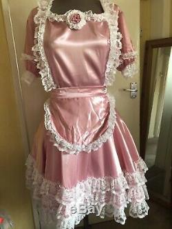 Beautiful Adult Baby Sissy Dress Maid Dress Pink Chest 40-42