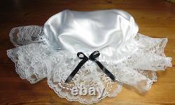 Bonnet Maid Cap Hat Satin Adult Baby Sissy Crossdresser Aunt D