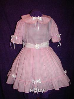 Bonnie Lavender Gingham Sissy Lolita Adult Baby Aunt D