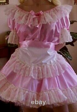 CD Adult Baby Sissy Pink Maids Dress