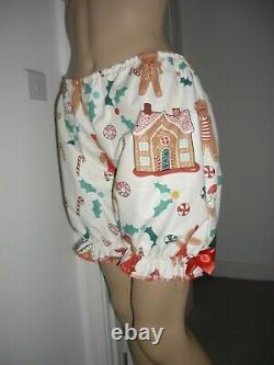 Christmas Sissy Adult Baby Cotton Frilly Dress & Panties Set CD Play Time Pjs