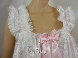 Custom Order sissy dress ADULT baby satin ddlg babydoll negligee