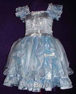 Darling Lavender Satin Organza Sissy Lolita Adult Baby Custom Aunt D