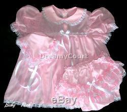 Dreamy Bb Adult Sissy Chiffon Pink Baby Dress