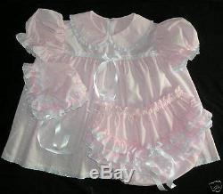 DreamyBB ADULT SISSY EYELET BABY BONNET Baby Pink