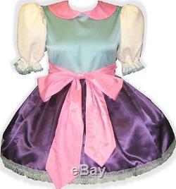 Elise Custom Fit Satin Adult Little Girl Baby Sissy Dress and SASH! LEANNE