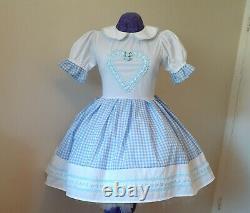 Heart Gingham Dress Adult Baby Sissy Custom Aunt D