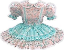 Kaylee Custom Fit MINT Butterflies Adult Little Girl Baby Sissy Dress LEANNE