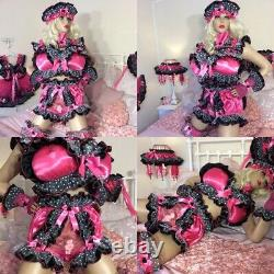 LUXURY SILKY SATIN SISSY MAID ADULT BABY DOLL FULL CUT HEART BUTT PANTIES Lined