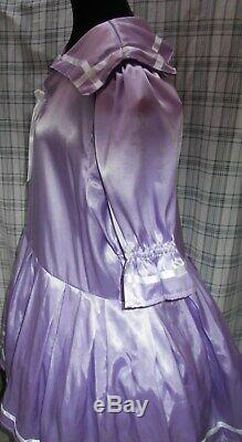 Lavender Satin Sissy Sailor Dress Adult Baby Sweet Little Girl Size 2X 18W 46
